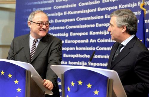 BELGIUM-EU-TAJANI-DORDAIN (AFP)