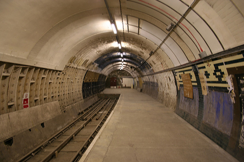 Photo de la station d�saffect�e d'Aldwych