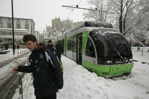 temporal-de-nieve-vitoria 12-02-2013, fotografia Rafa Gutierrez.