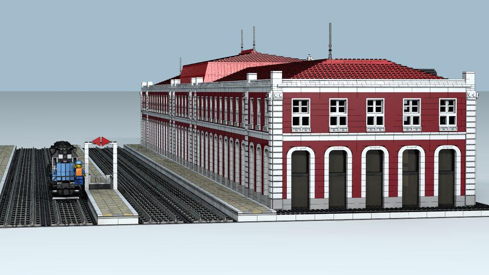 Una reproducción de trenes históricos con piezas de Lego protagoniza ...