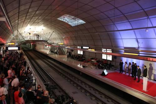 Inauguraci—n metro Cabieces. FOTO: LUIS ANGEL GOMEZ