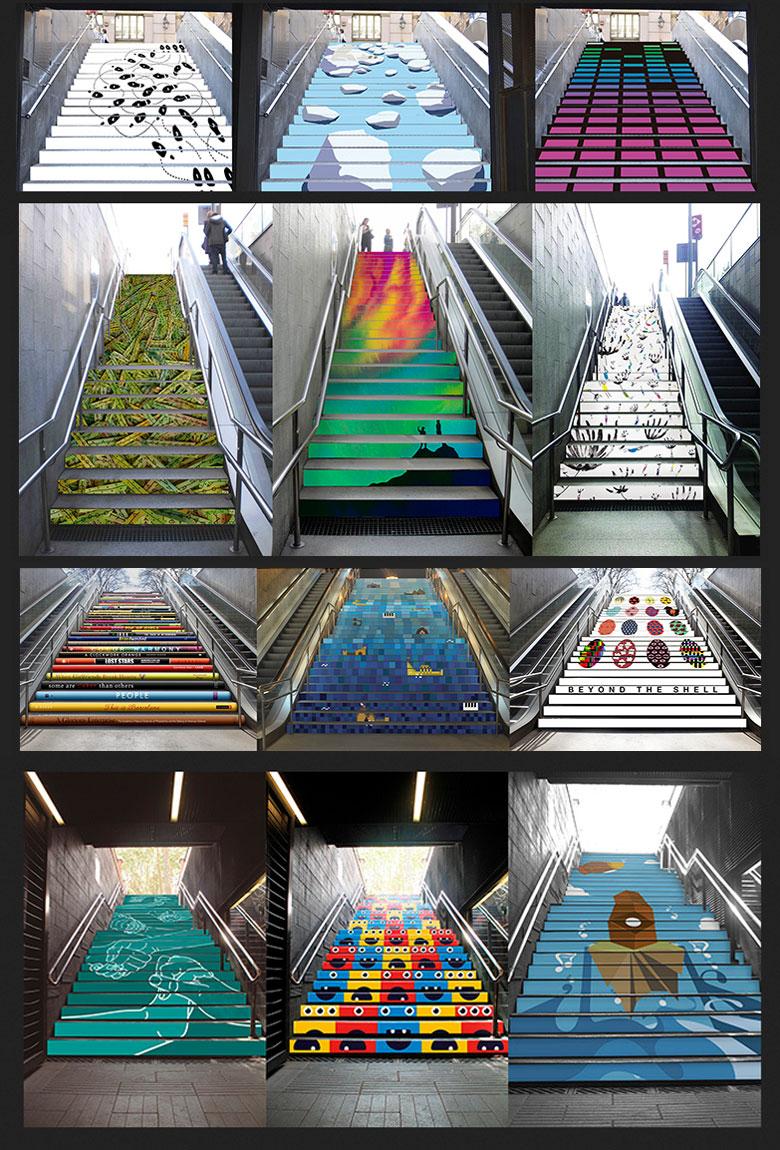 Arte para vestir las escaleras del metro de barcelona - Vinilos para escaleras ...