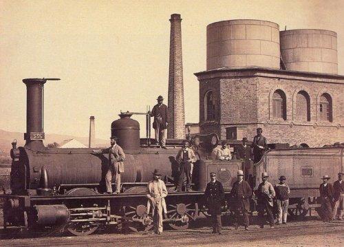 Locomotora MZA 335-Deposito de Córdoba-Año 1867-Foto-Jose-Spreafi