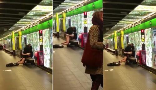 imagenes-pareja-metro-barcelona