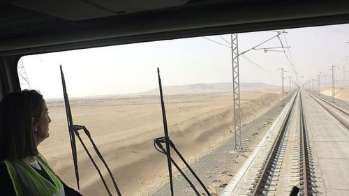 pruebas-trenes-placa-vía-arabia-saudí